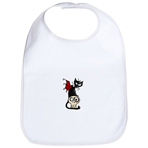 CafePress - Voodoodle - Fang Kitty Bib - Cute Cloth Baby Bib, Toddler -