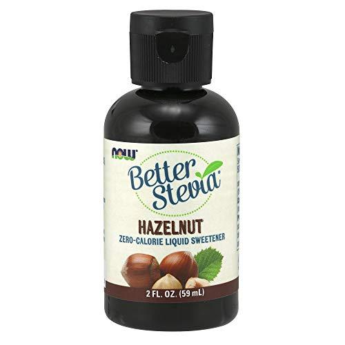 NOW Foods, Better Stevia Liquid, Hazelnut, Zero-Calorie Liquid Sweetener, Low Glycemic Impact, Certified Non-GMO, 2-Ounce