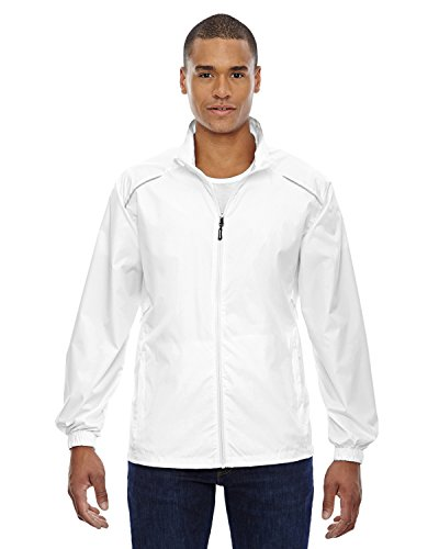 Unlined Jacket - Ash City - Core 365 88183 Men's Motivate Unlined Lightweight Jacket White 701 L