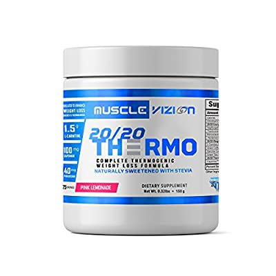 20/20 THERMO Advanced Weight Loss Thermogenic Formula Naturally Flavored and Sweetened with Stevia For Men and Women