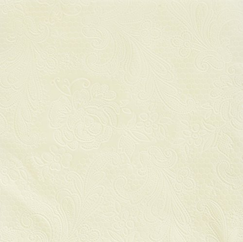 Paperproducts Design 7254 15-Pack Lace Elegant Paper Napkin, 6.5 by 6.5-Inch, Ivory