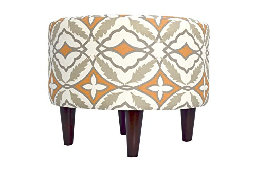 MJL Furniture Designs Sophia Collection Fabric Upholstered Round Footrest Ottoman with Round Espresso Finished Legs, Eden Series, Cinnamon by MJL Furniture Designs (Image #3)