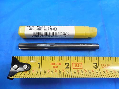 New USA Made .260 Dia Solid Carbide Reamer Decimal Chucking .2500 .010 Oversize