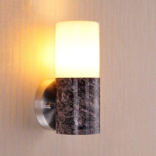 Modern Wall Sconce High Transmission Shade for Living Room Bedroom Hallway Conservatory (Not Included E27 Light Source)