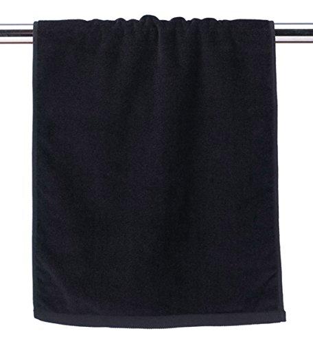 Anvil Fringed Fingertip Comfort Fringed End Towel, Black, One Size