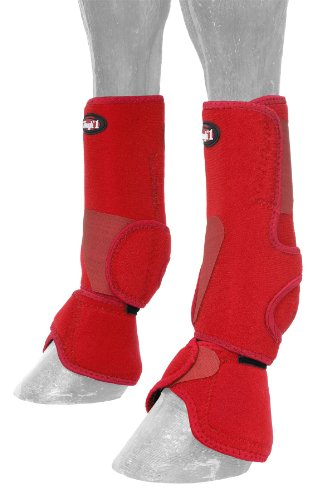 - Tough 1 Performers 1st Choice Combo Boots, Red, Medium