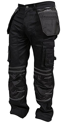 1e3d4feb2d26 Newfacelook Mens Cargo Trousers Working Pants Cordura Knee Pockets