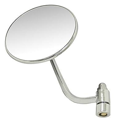 Empi 98-2013 Outside Mirror, Type 1 Vw Bug 50-67, Round, Left, 113 857 513A, Ea: Automotive