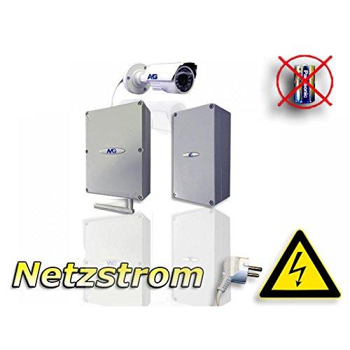 Videoüberwachung per Mobilfunk-Übertragung (UMTS/3G) mit Infrarot Kamera 850nm (leicht sichtbar) / UMTS Kamera Outdoor / 3G Kamera Überwachung