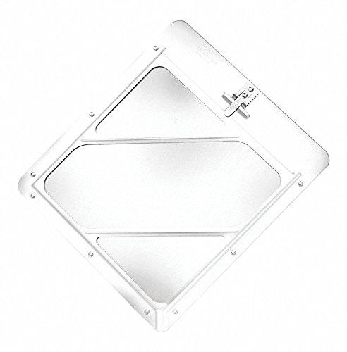 Labelmaster 80SM97 Slidemaster Hazmat Placard Holder, Full, Anodized Aluminum