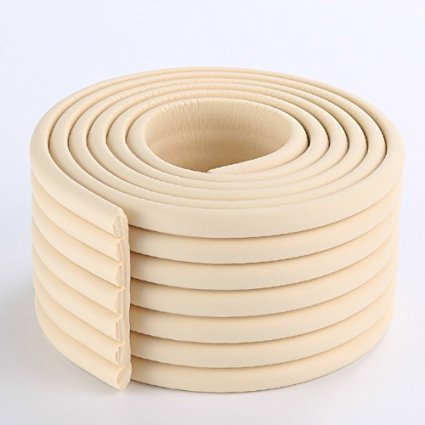 2 Meters (6.5 Ft) lange 8 Cm Wide Table Wall Edge Protectors Foam Baby Safety Bumper Guard Protector(Rice White)