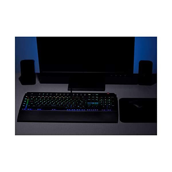 AmazonBasics Programmable Mechanical PC Gaming Keyboard | RGB LED Backlit, US Layout (QWERTY)