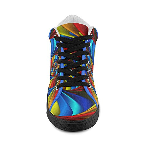 Artsadd Psychedelic Rainbow Spiral Chukka Canvas Shoes For Men (Model003) bcRuSH7