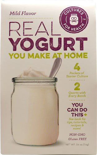 Cultures For Health Real Yogurt Starter Culture Mild Flavor -- 4 Packets - 2 pc
