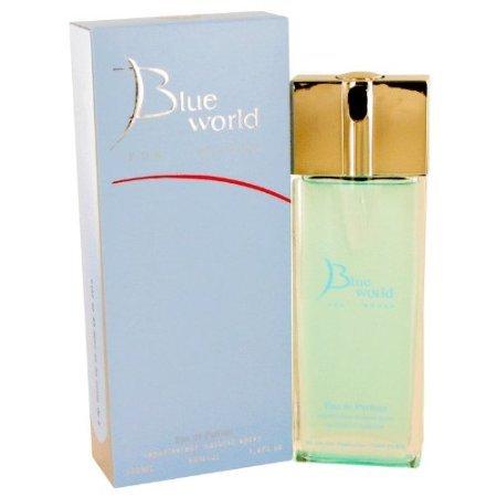 Blue World by Deon Parfums Eau De Parfum Spray 3.4 oz / 100 ml for Women + Pink Sugar by Aquolina Vial (sample... Aquolina Blue Sugar