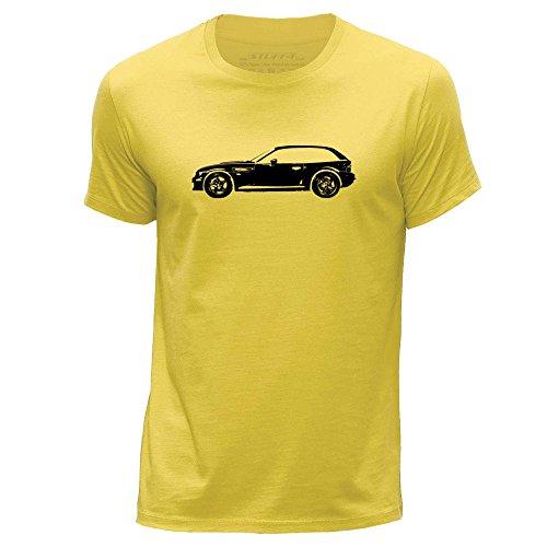STUFF4 Uomo/XX Grande (XXL)/Giallo/Girocollo T-Shirt/Stampino Auto Arte / Z3 M E36/8