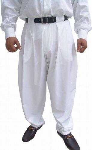 f93dd0e5b3a5 Il Padrino Moda Luxus Bundfalten Hose Gr. 58 weiß - Mafia Hose Bodybuilder