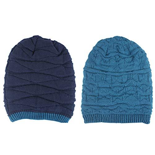 para Winter Skull y Beanie 4 Hats Hombres Warm Lana Mujeres Cap IRONLAND Knitting t8Hfwqt5