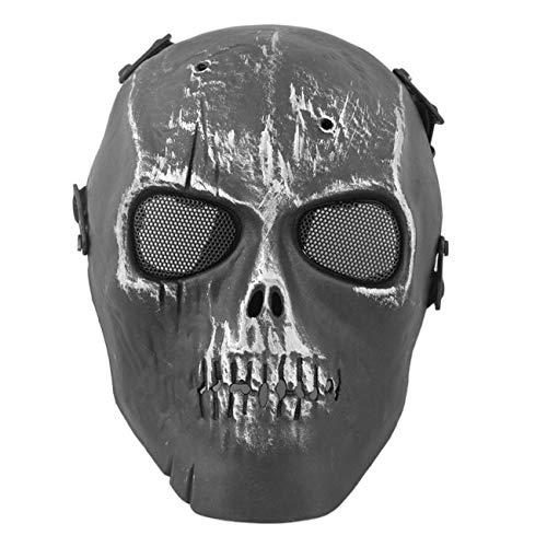 Super Cool Skull Skeleton Mask Outdoor CS Mask Airsoft Paintball BB Gun Full Face Protection Mask Shot Helmets With Eye Shield JBP-X