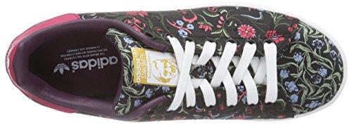 adidas Stan Smith W, Zapatillas para Mujer Multicolor (Negro / Morado / Rosa / Verde)