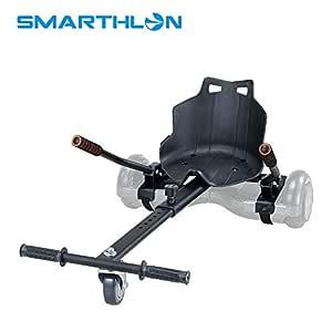 Smarthlon Asiento Kart para Patinete eléctrico/HOVERKART - Sillin Adaptable, Convierte tu patín eléctrico en un Kart con 6.5, 8, 10 Pulgadas (Negro)