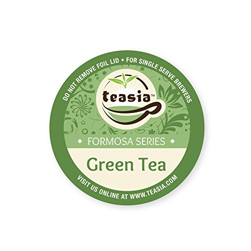 Teasia All Natural Green Tea, 36-count 2.0 COMPATIBLE K-Cup Hot Tea Iced Tea Capsules Tea Pods for Keurig Brewers