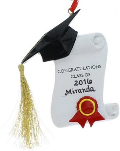 Graduation Congratulations Class Of/… Ornament For Personalization Kurt S Adler 256975