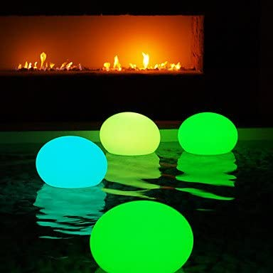 Flat Ball Shape HJL- Cordless and Rechargeable LED Lamp For Pool USA-With remote control 1075-FLATBALL350