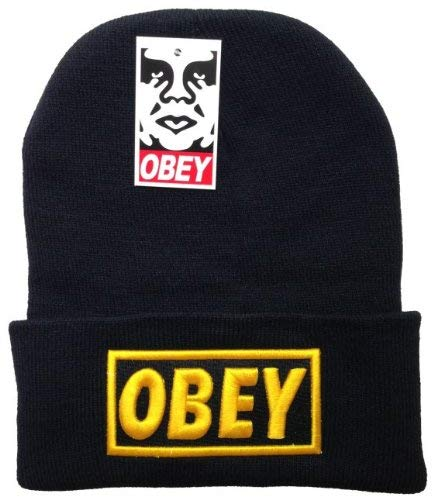 OBEY - Unisex Adult Winter Knit Beanie Hat One Size Fits Most Black - Obey Women Hat