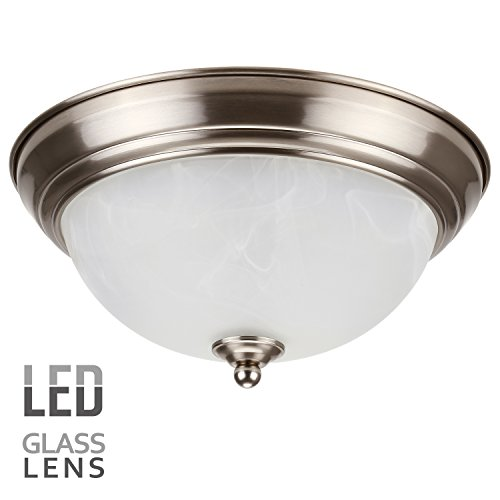 Dimmable 11-Inch LED Flush Mount Ceiling Light Fixture