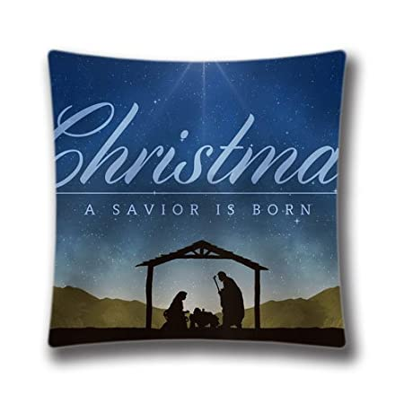 Merry Christmas Throw Pillow Case Nativity Background Cushion Cover Home Decorative 20x20inch