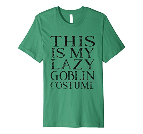 Mens Green Goblin Costume (Mens This is my lazy goblin costume halloween shirt XL Kelly Green)