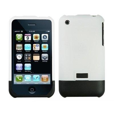 Logotrans Hardcase weiß und Displayschutzfolie für Apple iPhone 3G / 3Gs
