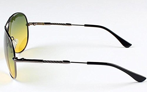 LingsFire® Unisex Polarized UV Protection Glasses Car Driver Drove Day and Night Glasses Anti-glare Anti-reflective Hd Night Vision Goggles Special Anti-glare Driving Mirror (gray frame)