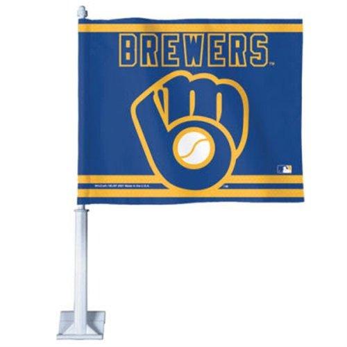 WinCraft MLB Milwaukee Brewers 38112071 Car Flag, 11.75