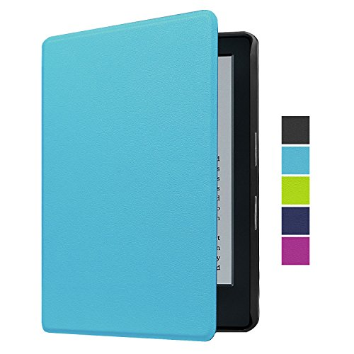 "NEWSTYLE Case for Kindle 8th Gen, The Thinnest and Lightest PU Leather Smart Cover With Auto Wake/Sleep for All-New Kindle E-reader 6"" Display (8th Generation, 2016) - Light Blue"