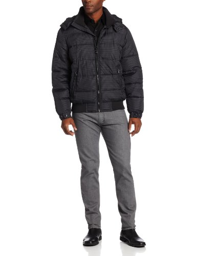 Perry Ellis Check Puffer Jacket