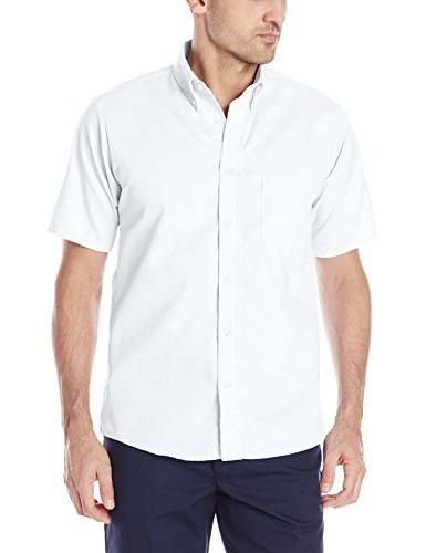Red Kap Men's Easy CareDreShort Sleeve Shirt, White, Short Sleeve Medium