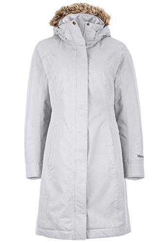 Small Media Mod (Marmot Chelsea Women's Waterproof Down Rain Coat, Fill Power 700, Platinum, Small)
