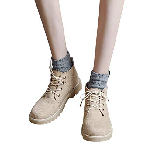 6d06d8881f Gyoume Women Ankle Boots Shoes Winter Lace up Short Boots Shoes Flat Wedge Boots  Shoes Casual