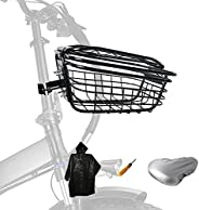 Bike Basket with a Fixed Holder, Rust-Resistant Bicycle Basket with a Fixed Holder Bicycle Seat Cover Raincoat