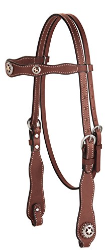 Weaver Leather Texas Star Scalloped Browband ()