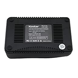Kastar Ultra Fast Charger(3X faster) Kit and Battery (1-Pack) for Sony NP-F970 NP-F960 F960 and DCR-VX2100 HDR-AX2000 FX1 FX7 FX1000 HVR-HD1000U V1U Z1P Z1U Z5U Z7U FS100U FS700U and LED Video Light