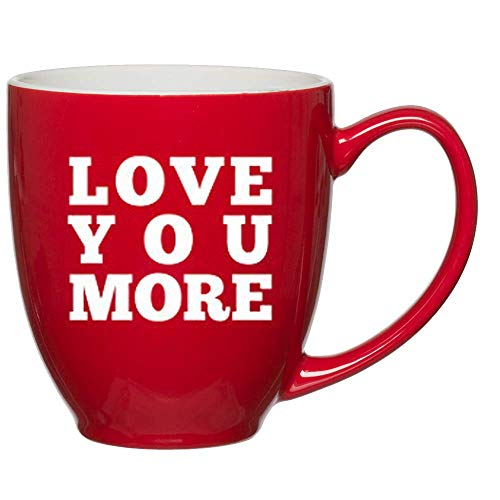 "(""Love You More"" Red Mug, Customized Coffee Mugs, Gift Ideas for Wife, Husband, Mom, Dad, Sister, Brother,Friends, Personalized Coffee Mug, Funny Coffee Mug for Men and Women, Funny Coffee Cup)"
