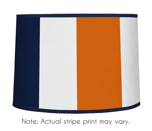 Sweet Jojo Designs Navy Blue and Orange Stripe Collection Lamp Shade