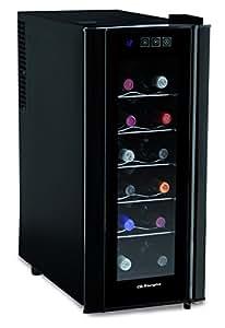 Orbegozo Vt1200 - Vinoteca para 12 botellas, 50W, 252 x 610 x 510 mm, electronico, color negro