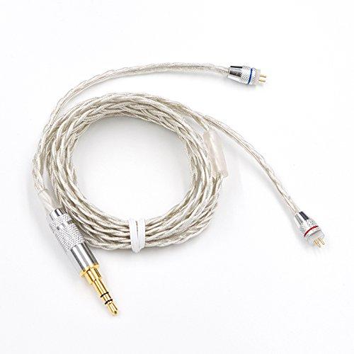 KZ ZST Cable 2pin 0.75 mm Cable de plata mejorada Cable de actualización de auriculares para cable KZ ZST ZSR ES3 ES4 ED12: Amazon.es: Electrónica