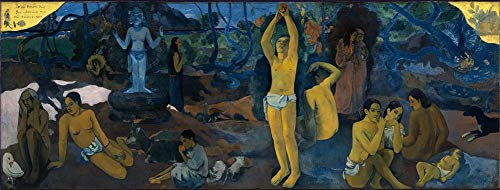 Toperfect $50-$2000 Hand Painted Art Paintings of Paul Gauguin Where Do We Come from? What are We? Where are We Going? Oil Painting Reproduction on Canvas Old-2 Famous -12 x 32 Inches