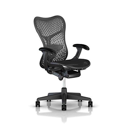 Herman Miller Mirra 2 Task Chair: Tilt Limiter - FlexFront Adj Seat Depth - Adj Lumbar Support - TriFlex Back - Adj Arms - Graphite Base & Frame by Herman Miller