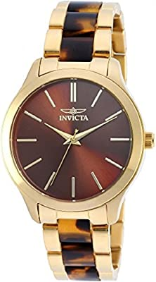 Invicta Women's 'Angel' Quartz Stainless Steel Casual Watch, Color:Gold-Toned (Model: 20498)